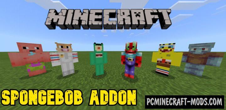 Spongebob Addon For Minecraft PE 1.17, 1.16