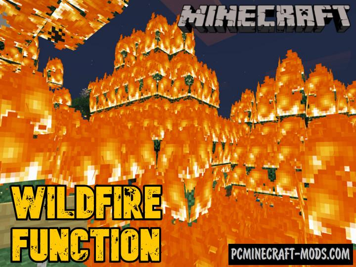 Wildfire Function Addon For Minecraft PE 1.17, 1.16