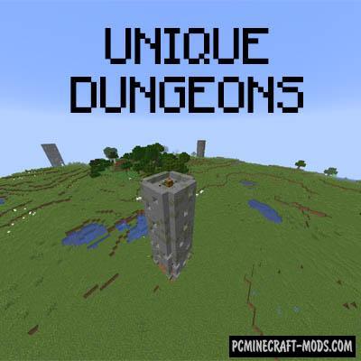 Unique Dungeons - Gen Mod For MC1.15.2, 1.14.4, 1.12.2