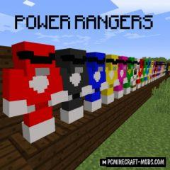 Power Rangers - Weapons, Armor Mod For MC 1.14.4