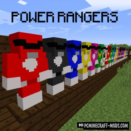 Power Rangers - Weapons, Armor Mod For MC 1.14.4