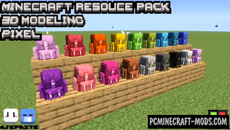 Amazing 3D Shulker Backpack Resource Pack 1.15.2, 1.14.4