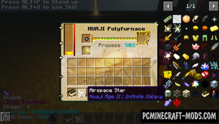 HuajiAge-Infinite Galaxy - Blocks, Weapons Mod MC 1.12.2