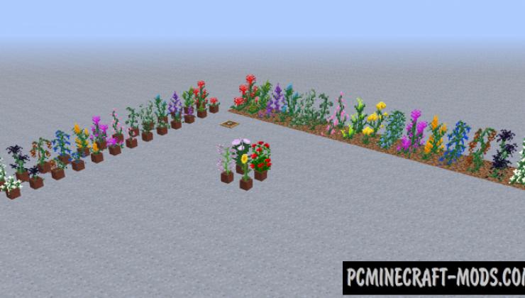 Flonters - Decoration Flowers Mod For Minecraft 1.17.1, 1.16.5