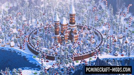 Gingerbread Village - City Map For Minecraft