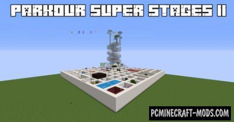 Parkour Super Stages II - Parkour Map For Minecraft