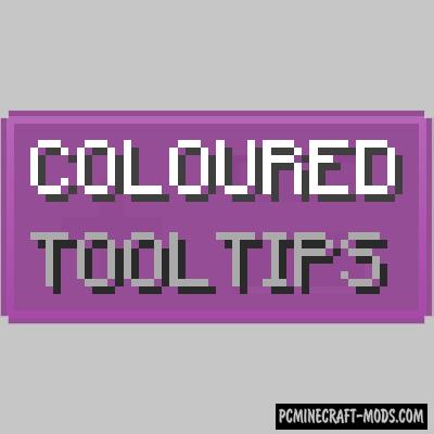 Coloured Tooltips - GUI Tweak Mod For MC 1.16.4, 1.15.2, 1.14.4