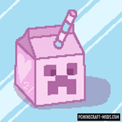 Strawberry Milk Resource Pack For Minecraft 1.15.2, 1.15.1