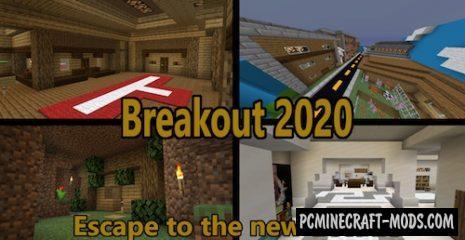 Breakout 2020 - Puzzle, Escape Map For Minecraft