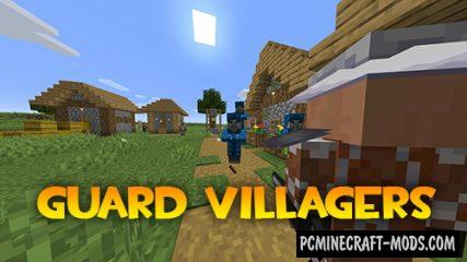 Guard Villagers - New Mobs Mod For Minecraft 1.16.5, 1.16.4