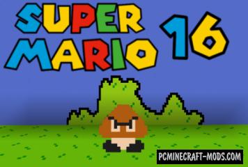 Super Mario 16 - Adventure Map For Minecraft