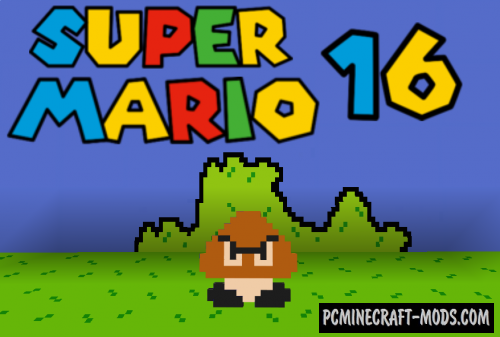 Super Mario 16 - Adventure Map For Minecraft