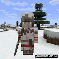 Wandering Trapper - New Mobs Mod For MC 1.16.5, 1.14.4