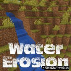 Water Erosion - New Physics Mod For MC 1.16.5, 1.16.4, 1.12.2