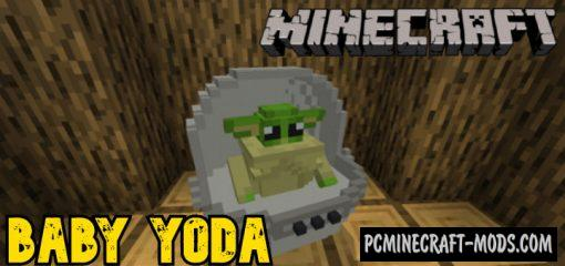 Baby Yoda - New Mob Addon For Minecraft Bedrock 1.14
