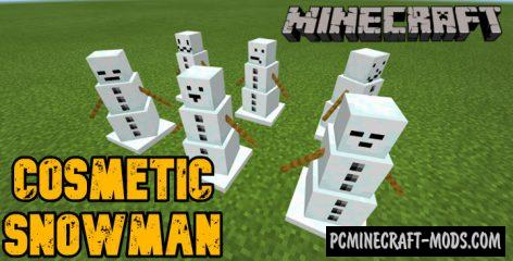 Cosmetic Snowman Addon For Minecraft Bedrock 1.14