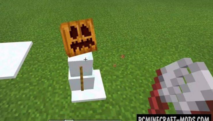 Cosmetic Snowman Addon For Minecraft Bedrock 1.18, 1.17.34