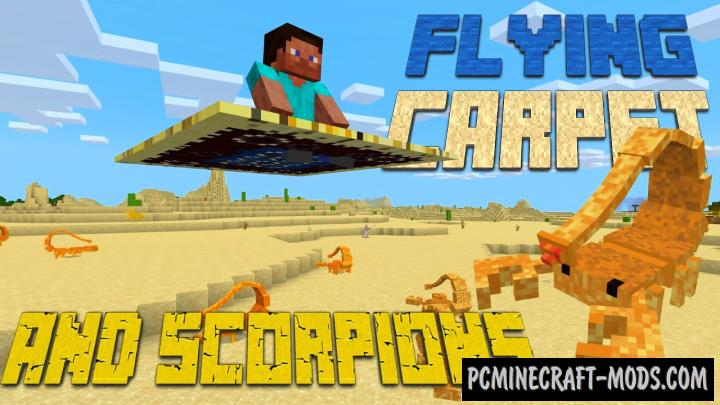 Flying Carpets And Scorpions Addon For Minecraft PE 1.17.40