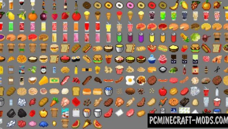 Lots More Food Addon For Minecraft 1.17, 1.16 iOS/Android