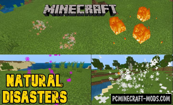 Natural Disasters Addon For Minecraft 1.15, 1.14