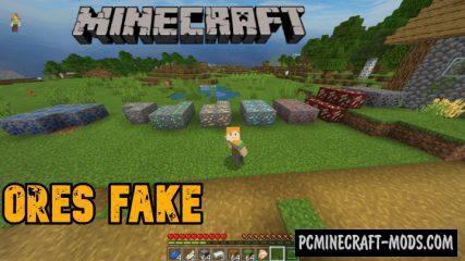 Ores Fake Mod/Addon For Minecraft PE 1.14