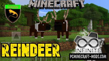 Reindeer - Creatures Addon For Minecraft Bedrock 1.14