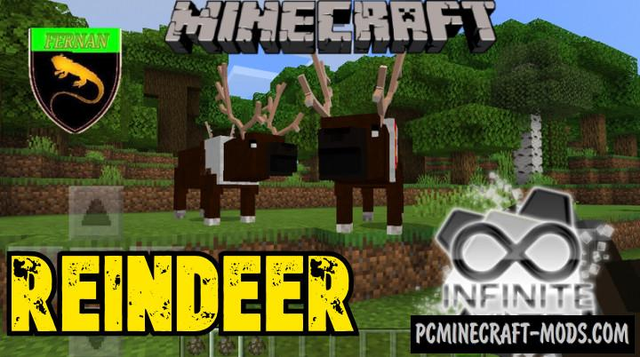 Reindeer - Creatures Addon For Minecraft Bedrock 1.16, 1.14