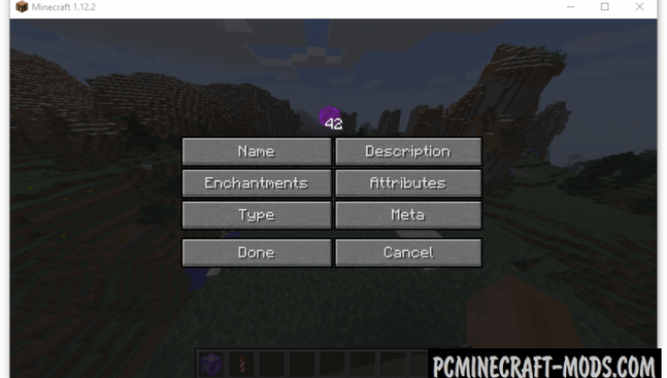 Advanced Creative Tab - GUI Mod For Minecraft 1.15.2, 1.14.4