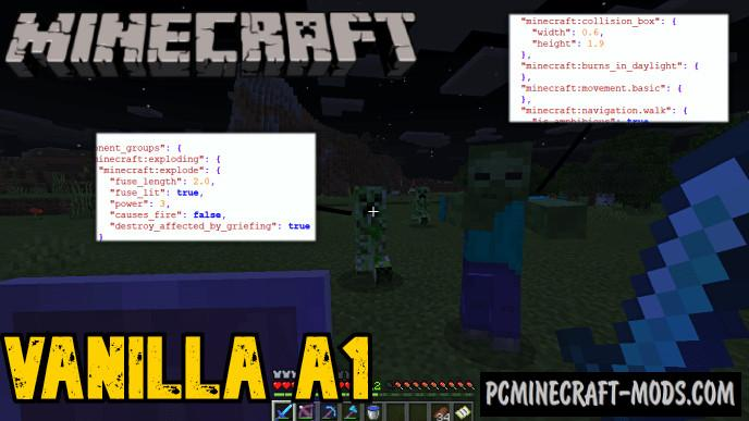 Vanilla A1 Addon For Minecraft PE 1.16, 1.14 iOS/Android