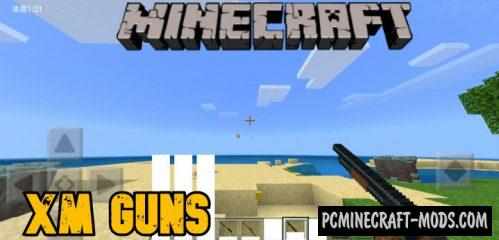 XM Guns Addon For Minecraft Bedrock 1.14 iOS/Android
