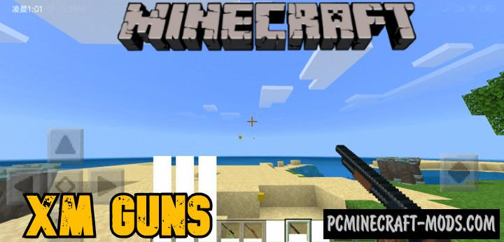 XM Guns Addon For Minecraft Bedrock 1.17 iOS/Android