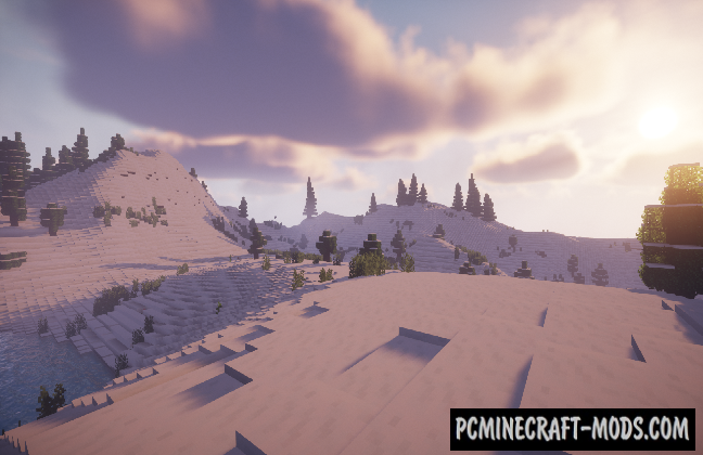Snow-Covered Valleys - Survival Map For Minecraft