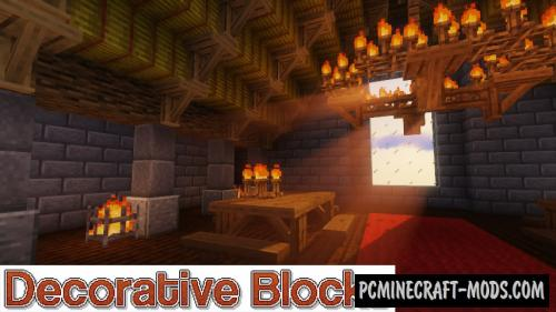 Decorative Blocks - Furniture Mod For MC 1.16.4, 1.14.4