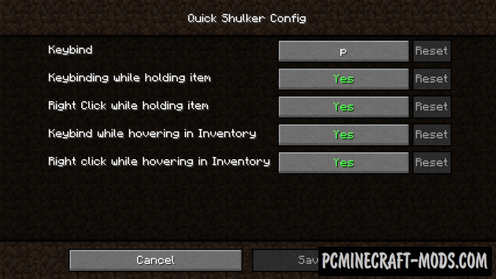 Quick Shulker - Tweak Mod For Minecraft 1.16.5, 1.16.4