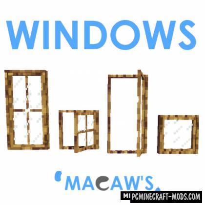 Macaw's Windows - Decor Mod Minecraft 1.16.4, 1.14.4