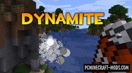 Dynamite - Weapon Mod For Minecraft 1.14.4