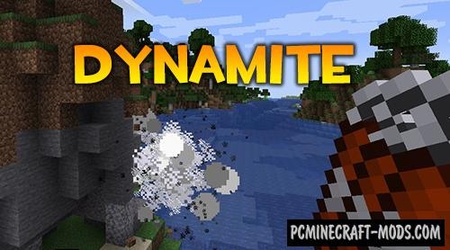 Dynamite - Weapon Mod For Minecraft 1.15.2, 1.14.4
