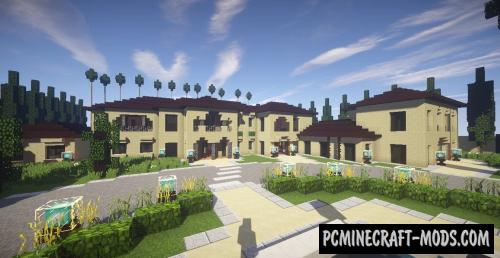 The Best Mansion In Los Angeles Map For Minecraft