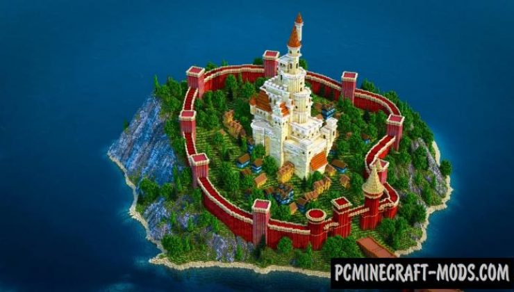 Island with White Castle Map For Minecraft