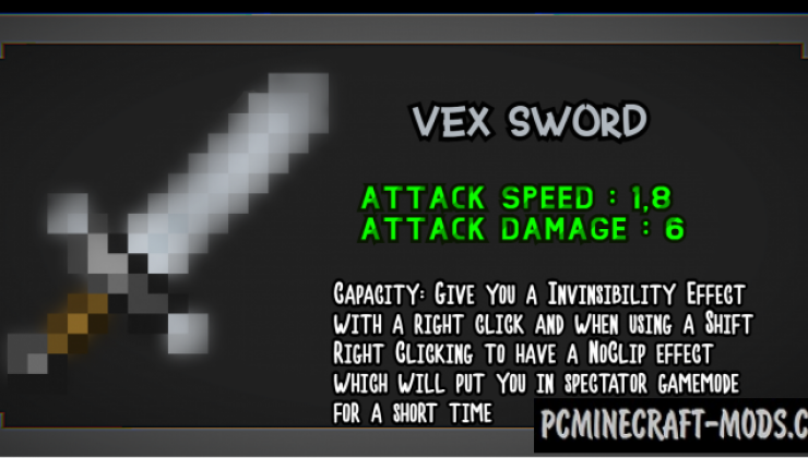 Useless Sword - Weapons Mod For Minecraft 1.16.5, 1.14.4
