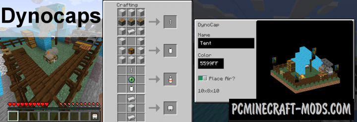 Dynocaps - Tool, Mech Mod For Minecraft 1.16.4, 1.15.2