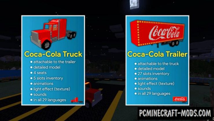 Coca Cola Truck Addon For Minecraft Bedrock 1.16.220