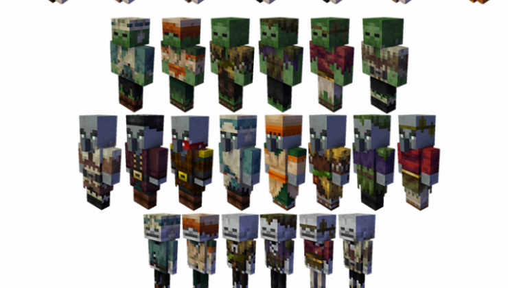 Random mobs Resource Pack For Minecraft 1.15.2