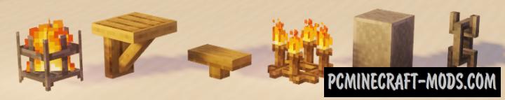 Decorative Blocks - Furniture Mod For MC 1.16.5, 1.14.4
