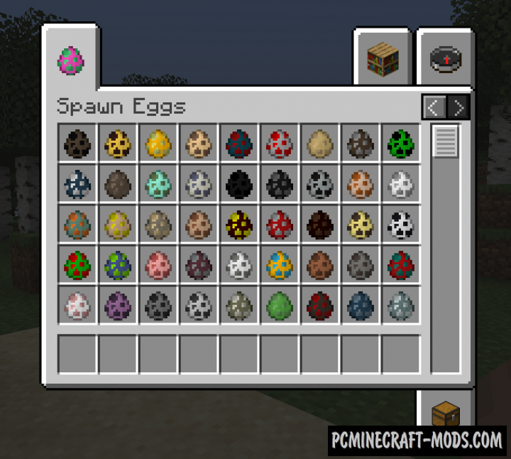 Egg Tab - GUI Tweak Mod For Minecraft 1.17, 1.16.5, 1.16.4