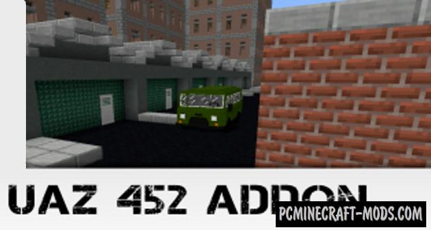 UAZ 452 Addon For Minecraft 1.15, 1.14 iOS/Android