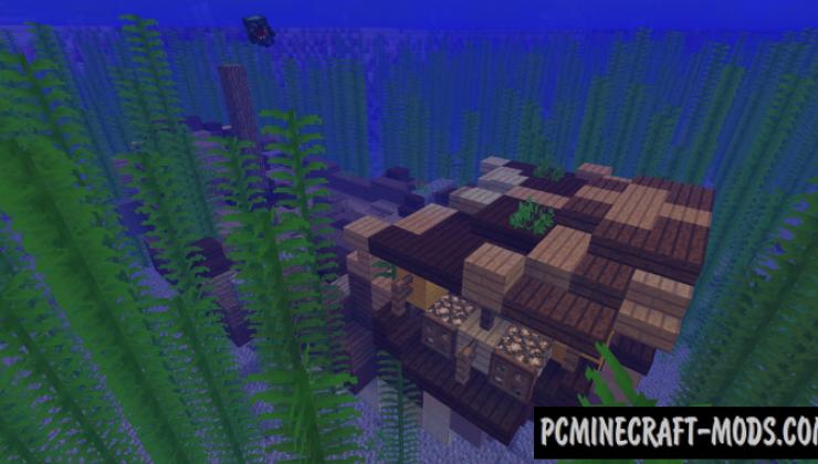 Underwater World - Adv, Gen Mod For Minecraft 1.12.2