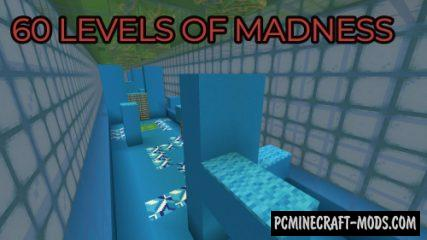 60 Levels of Madness - Parkour Map For Minecraft