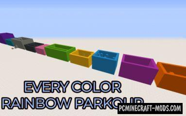 Every Color Rainbow - Parkour Map For Minecraft