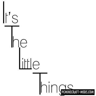 It's the little things - GUI Tweak Mod MC 1.16.5, 1.16.4, 1.12.2